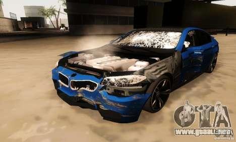 BMW M5 F10 2012 para visión interna GTA San Andreas