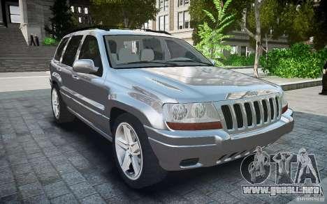 Jeep Grand Cheroke para GTA 4 visión correcta