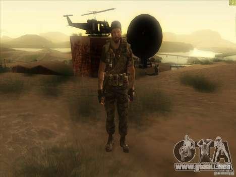 Frank Woods para GTA San Andreas sexta pantalla