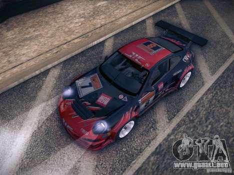 Porsche 997 GT3 RSR para vista inferior GTA San Andreas
