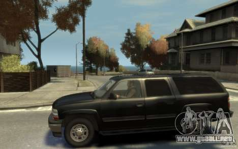 Chevrolet Suburban 2003 FBI para GTA 4 left
