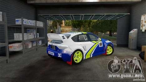 Subaru Impreza WRX STI Rallycross BFGoodric para GTA 4 left