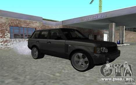 Land Rover Supercharged para GTA San Andreas vista hacia atrás
