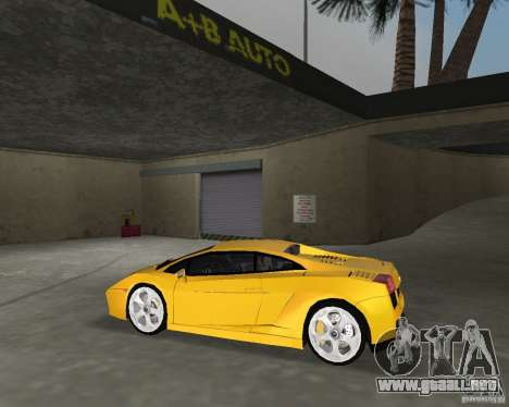 Lamborghini Gallardo v.2 para GTA Vice City vista lateral izquierdo