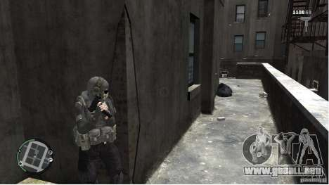 MW2 Ghost Diving Suit para GTA 4 adelante de pantalla