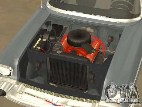 Chevrolet Bel Air 1957 para GTA San Andreas vista hacia atrás