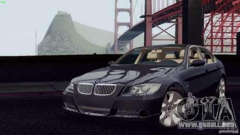 BMW 330i e90 para la visión correcta GTA San Andreas