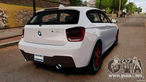 BMW 135i M-Power 2013 para GTA 4 Vista posterior izquierda