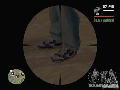Blue Nike Air Force para GTA San Andreas segunda pantalla