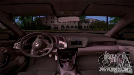 Honda CR-Z 2010 V3.0 para vista lateral GTA San Andreas