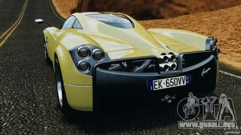Pagani Huayra 2011 v1.0 [EPM] para GTA 4 Vista posterior izquierda