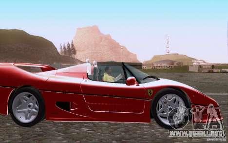 Ferrari F50 v1.0.0 1995 para visión interna GTA San Andreas