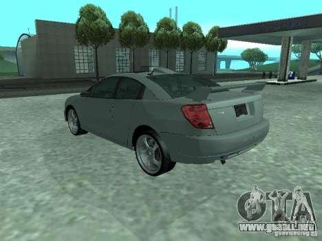 Saturn Ion Quad Coupe 2004 para vista inferior GTA San Andreas