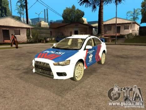 Mitsubishi Lancer X Police Indonesia para GTA San Andreas