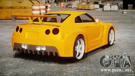 Nissan Skyline R35 GTR para GTA 4 vista interior