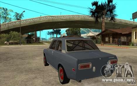 Datsun 510 JDM Style para GTA San Andreas vista posterior izquierda