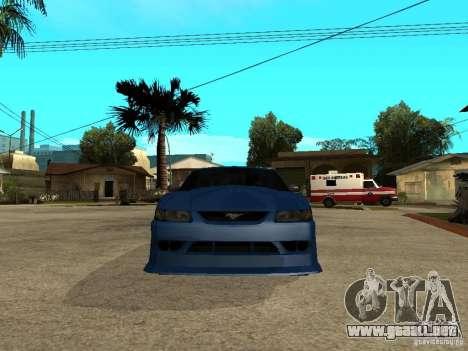 Ford Mustang Cobra R Tuneable para la visión correcta GTA San Andreas