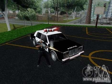 Greenwood Police LS para GTA San Andreas vista hacia atrás