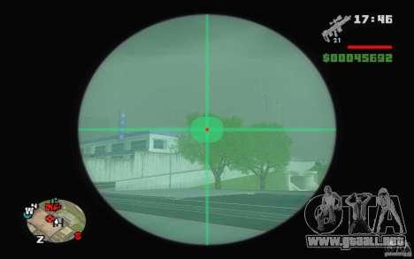 Un rifle de francotirador desde un Ballad of Gay para GTA San Andreas segunda pantalla