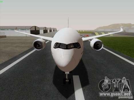 Airbus A350-900 Emirates para GTA San Andreas vista posterior izquierda