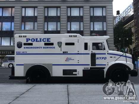 Enforcer Emergency Service NYPD para GTA 4 Vista posterior izquierda