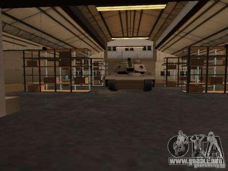 La base militar revivida en muelles v3.0 para GTA San Andreas sucesivamente de pantalla