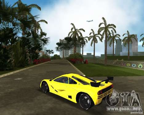 McLaren F1 LM para GTA Vice City left