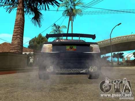 VW Jetta para GTA San Andreas vista posterior izquierda