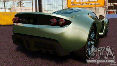 Hennessey Venom GT 2010 [EPM] para GTA 4 Vista posterior izquierda
