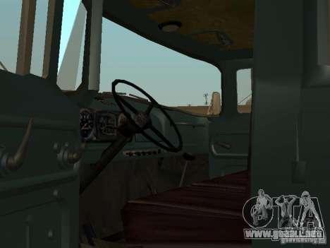 ZIL 130 doble cabina para la visión correcta GTA San Andreas