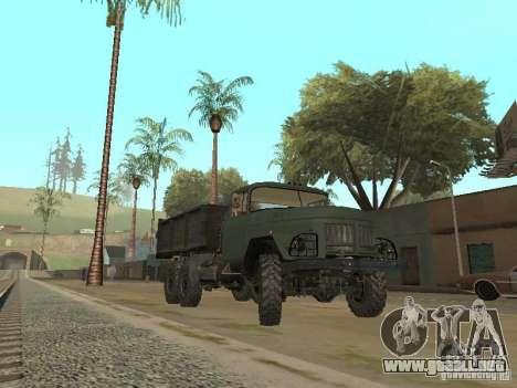ZIL 131 camión para GTA San Andreas vista posterior izquierda