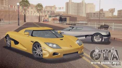 Koenigsegg CCX 2006 v2.0.0 para GTA San Andreas vista posterior izquierda
