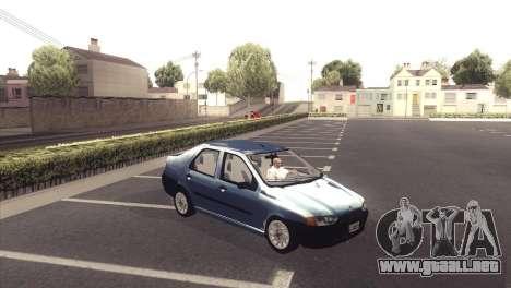 Fiat Siena 1998 para GTA San Andreas vista hacia atrás