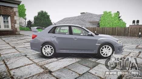 Subaru Impreza WRX 2011 para GTA 4 vista interior