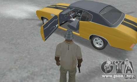 Chevrolet Chevelle SS 1972 para GTA San Andreas vista hacia atrás