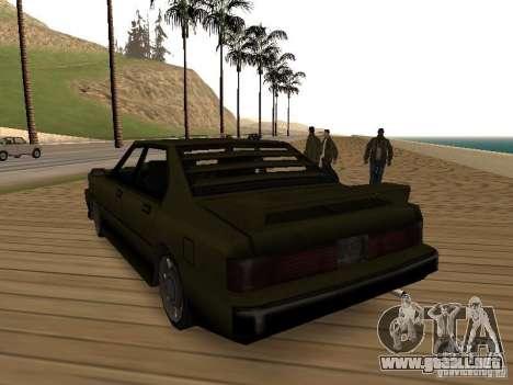 Sentinel XS para GTA San Andreas vista posterior izquierda