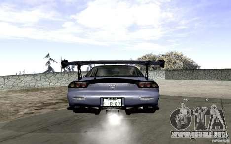 Mazda RX-7 Hellalush para GTA San Andreas vista hacia atrás