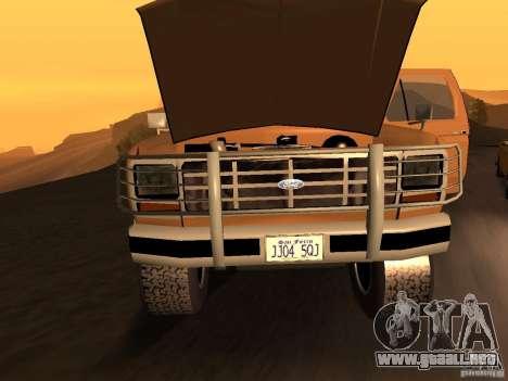 Ford Bronco 1985 para GTA San Andreas vista posterior izquierda