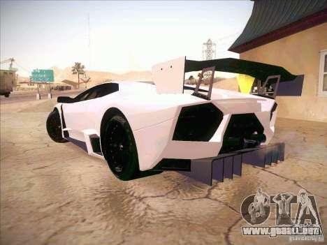 Lamborghini Reventon GT-R para GTA San Andreas left