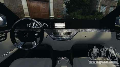 Mercedes-Benz W221 S500 2006 para GTA 4 vista hacia atrás