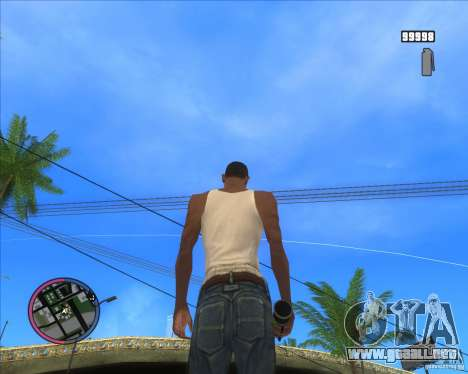 Fumar Granada HD para GTA San Andreas tercera pantalla