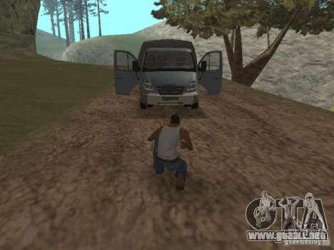 GAS-3310 Valdai para GTA San Andreas vista hacia atrás