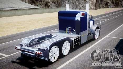 Peterbilt Truck Custom para GTA 4 Vista posterior izquierda