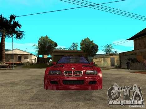 BMW M3 GTR Le Mans para la visión correcta GTA San Andreas