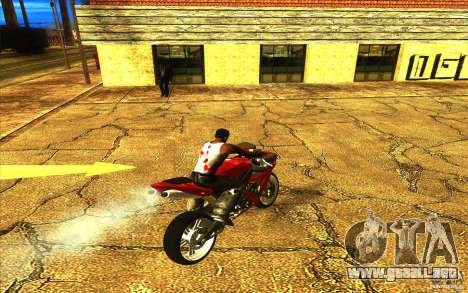Yamaha YZF R1 Tuning Version para vista inferior GTA San Andreas