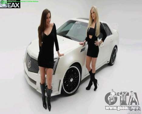 Pantallas de carga y auto chicas para GTA San Andreas