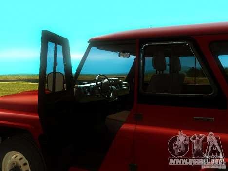 UAZ 315148 para GTA San Andreas vista hacia atrás