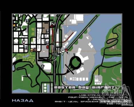Piloto de trabajo para GTA San Andreas quinta pantalla