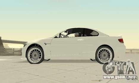 BMW M3 2008 Convertible Hamann para la visión correcta GTA San Andreas