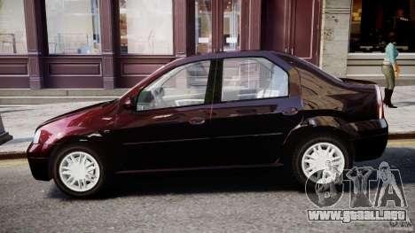 Dacia Logan 2007 Prestige 1.6 para GTA 4 Vista posterior izquierda